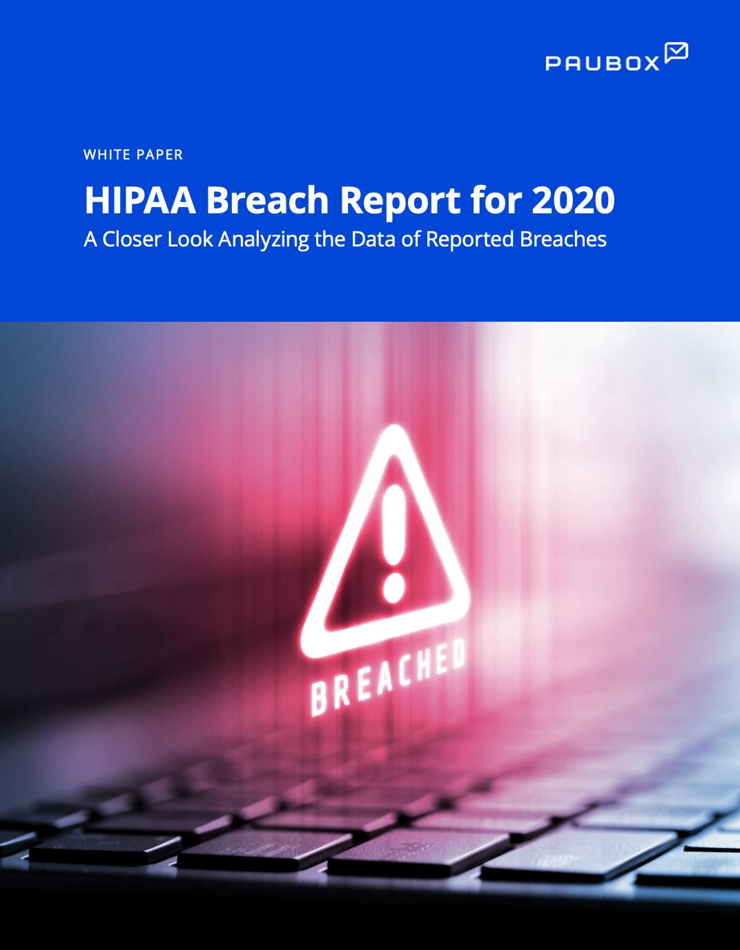 hipaa breach report 2020